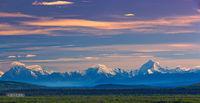 Denali, Alaska Range, Mt. Foraker, Mt. Hunter, Mt. Denali, Tanana River, Delta, Richardson Hiway, Alaska