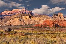 Kodachrome Basin,Utah,derelict barn,Aquarius Plateau,desert