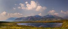 Blackstone Range,tarn,Tombstone Terrritorial Park,Yukon,Canada,Dempster Hiway