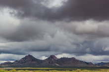 Cookes Peak Wilderness,storm clouds,mountains,Chihuahuan Desert