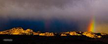 Owens Valley,morning,rainbow; Buttermilk Mountains