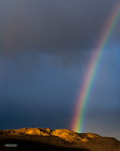 Owens Valley,morning,rainbow