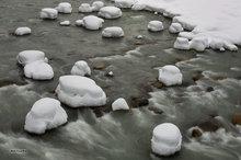 South Fork Stillaguamish River,winter,snow hummocks