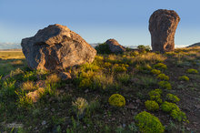City of Rocks SP,boulders,afternoon light,desert