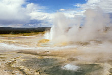 geyser,lower geyser basin,Clepsydra