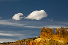 New Mexico,Ghost Ranch,clouds,anthropomorphism