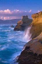 Oregon,coast,surf,clouds,Cape Kiwanda
