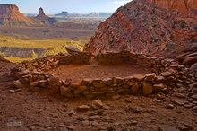 Canyonlands,False Kiva,Candelstick Tower,Holman Spring Basin