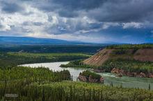 Five Finger Rapids,Yukon River,Klondike Hiway,Yukon,Canada