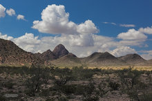 San Augustin Mountains,granite,desert,clouds