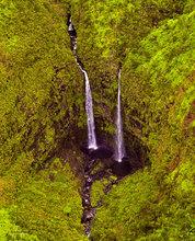 Kauai,Jurasic Park,double waterfall,Manawaiopuna Falls