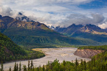 Matanuska River,Mt. Sargeant Robinson,Mt. Goode,Glenn Hiway,Alaska