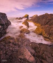 Oregon,coast,surf,clouds,Seal Rocks