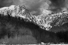 Mount Index,Index River,clouds