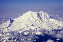 Mt. Rainier,glacier,aerial view