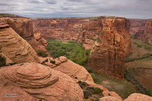 Canyon de Chelly,Antelope House overlook,morning,Navajo Fortress