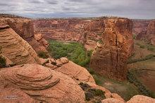 Canyon de Chelly,Antelope House overlook,morning,Navajo Fortress