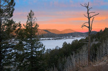 ice,snow,Navajo Lake,Utah,sunrise
