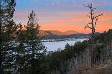 ice,snow,Navajo Lake,Utah,sunrise
