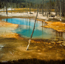 Black Sand Bsin,Opalescent Pool,Yellowstone NP