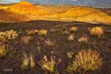 Painted Hills,Oregon,clouds,sunrise,bentonite