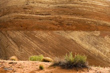 Sedimentary rock,striated,round,petrified sand dune,cross bedding