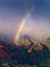 Pu'u Ka Pele,Na Pali Coast,Waimea Canyon,rainbow,Kauai