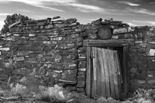 New Mexico, Ghost Ranch, derelict building