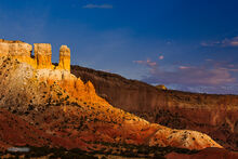Abiquiu, Ghost Ranch, twin towers, sunset
