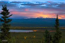 Knob Lakes,sunset,Glenn Hiway,Alaska