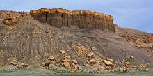 Cottonwood Canyon, fallen rock, talus, scree