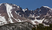 Great Basin NP, Jeff Davis Peak, Pinnacle Peak, Wheeler Peak