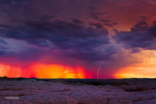 White Pocket, thunderstorm, sunset