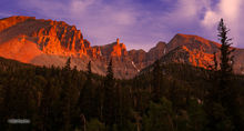 Great Basin NP, alpenglow on Davis & Wheeler