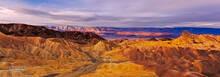 Death Valley, Zabriskie Point, twilight
