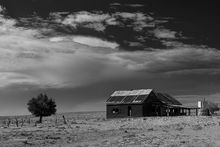 Steelman's Bright Spot. Highway 20, Hiland, WY, Derelict building