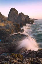 Oregon,coast,clouds,Seal Rocks,surf,sea stack