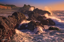Oregon,coast,Seal Rocks,surf,sea stacks