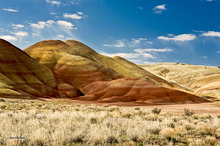 Painted Hills,Oregon,clouds,sunrise bentonite