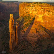 Canyon de Chelly,Spider Rock overlook,evening,desert,textures