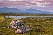 Denali Hiway,mile 103,tarn,Alaska Range,Alaska