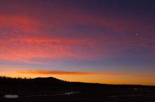 sunrise,Utah,crescent moon