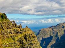 Waipo'o Falls,arch,Waimea Canyon,Kauai