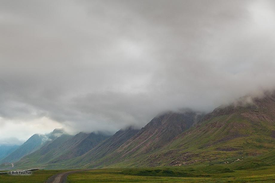 Dalton Highway parallels the Trans-Alaska Pipeline through the Antigun Gorge