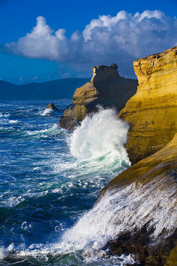 Oregon,coast,surf,clouds,Cape Kiwanda, photo