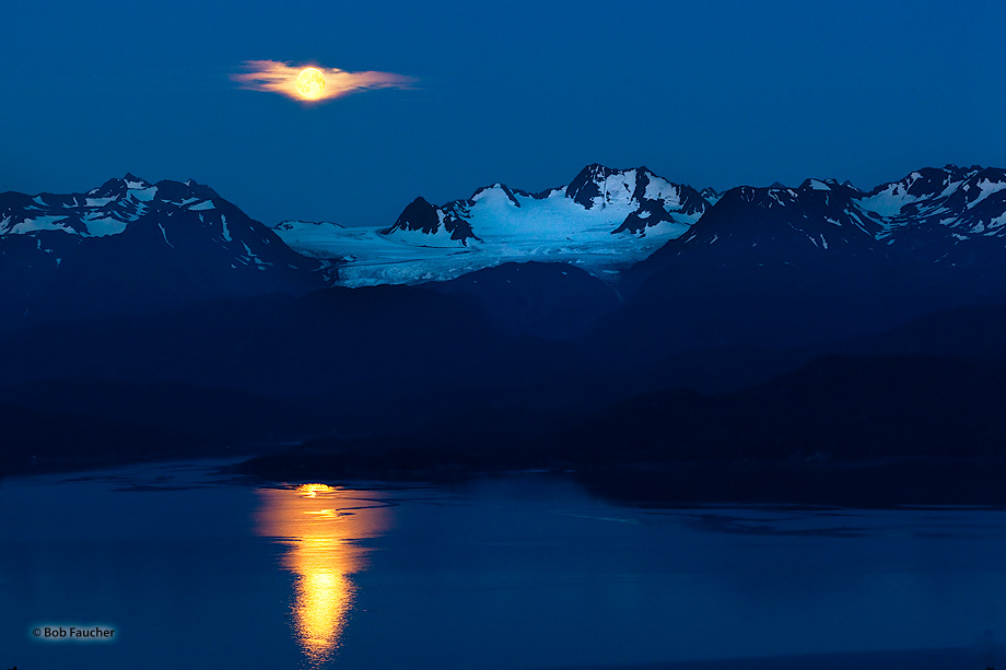 Moonrise,Dixon Glacier,Kachemak Bay,Kenai Mountains,Kenai Peninsula,Alaska