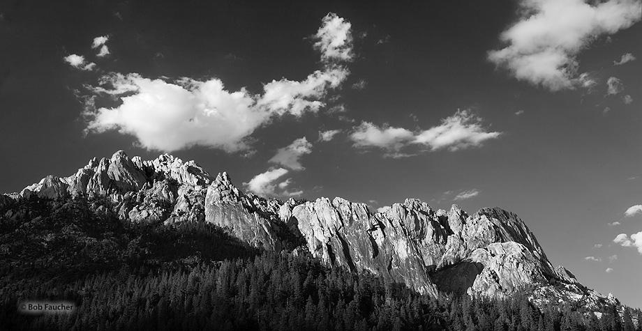 Castle Crags, granite, spires, photo