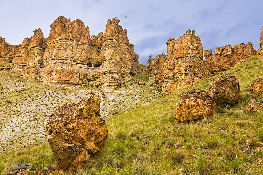 John Day Fossil Beds NM,Clarno unit,palisades, photo