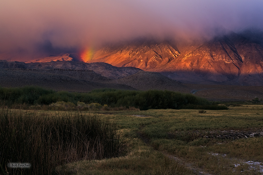 Owens Valley,morning,rainbow, photo