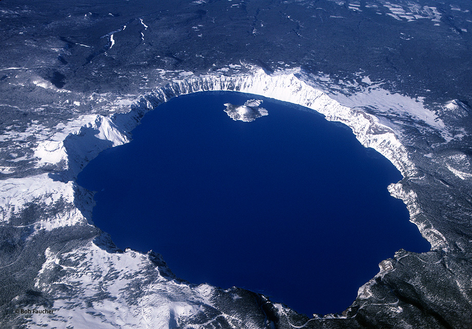 Crater Lake,blue, photo
